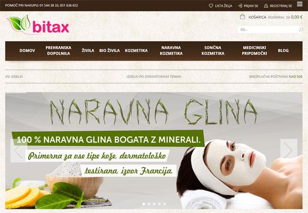 Izdelava spletne trgovine Bitax
