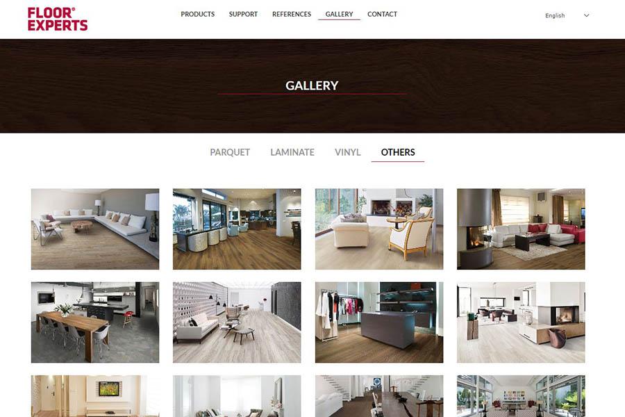 Izdelava spletne strani Floor Experts galerija