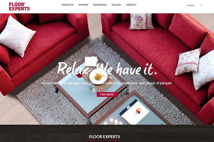 Izdelava spletne strani Floor Experts domača stran