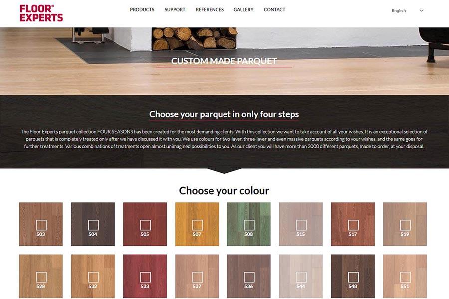 Izdelava spletne strani Floor Experts konfigurator