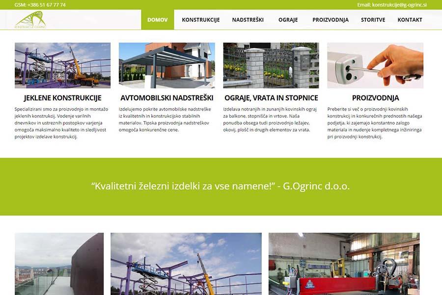 Izdelava spletne strani Konstrukcije Ogrinc vstopi