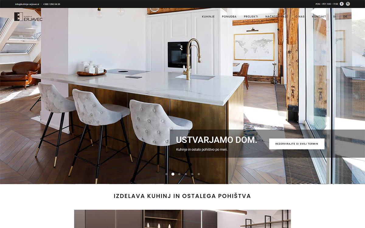 Domača stran Kuhinje Erjavec